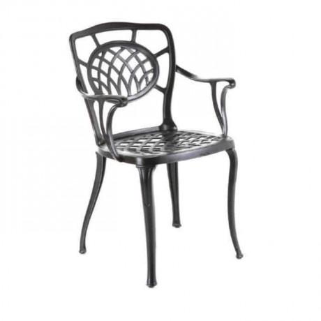 Siyah Boyalı Kollu Döküm Sandalye - dks9008
