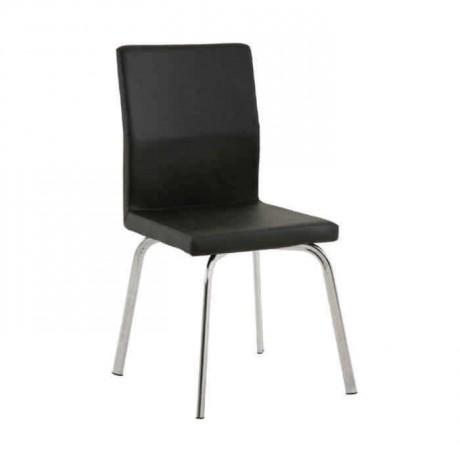 Siyah Derili Metal Ayaklı Poliüretan Sandalye - psd245