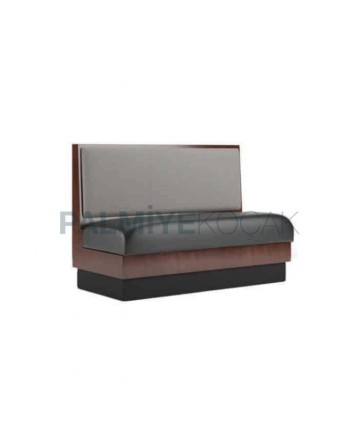 Black Leather Hotel Restaurant Couch