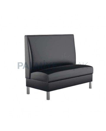 Black Leather Upholstered Couch