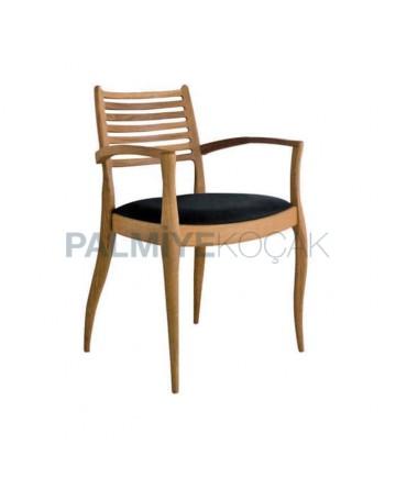 Black Wooden Classic Armchair