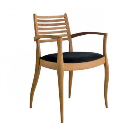 Siyah Döşemeli Klasik Kollu Sandalye - ksak27