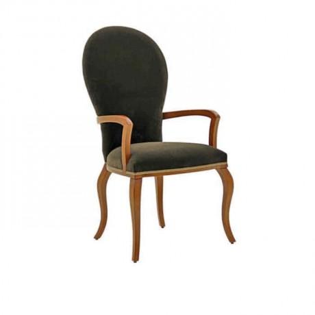 Siyah Kumaş Döşemeli Lukens Ayak Klasik Kollu Sandalye - ksak79