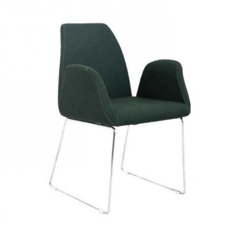 Siyah Kumaş Döşemeli Metal Çubuk Ayaklı Cafe Sandalyesi - psd270