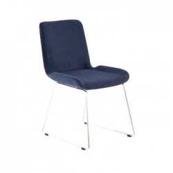 Black Fabric Metal Leg Polyurethane Chair