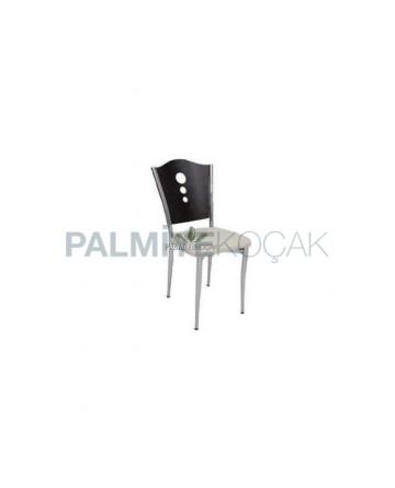 Black Torn Metal Chair