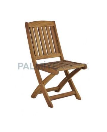 Teak Folding Cafe Chair