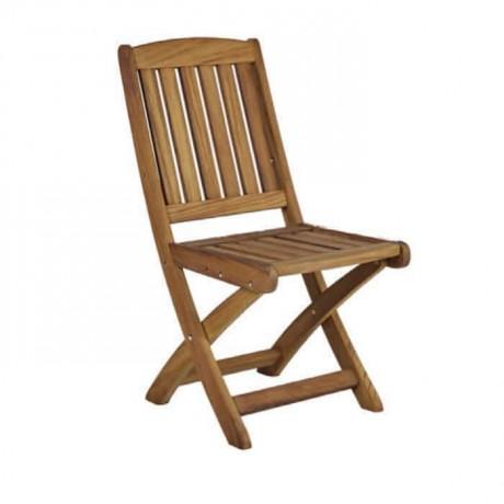 Teak Katlanır Cafe Sandalyesi - itk2024