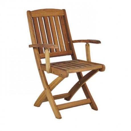 Teak Katlanır Kollu Cafe Sandalyesi - itk2023
