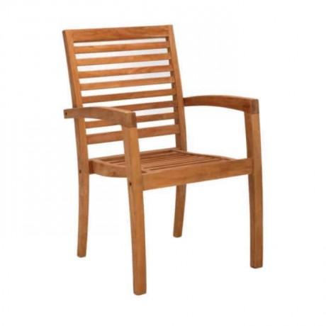 Teak Kollu Bahçe Sandalyesi - itk2027