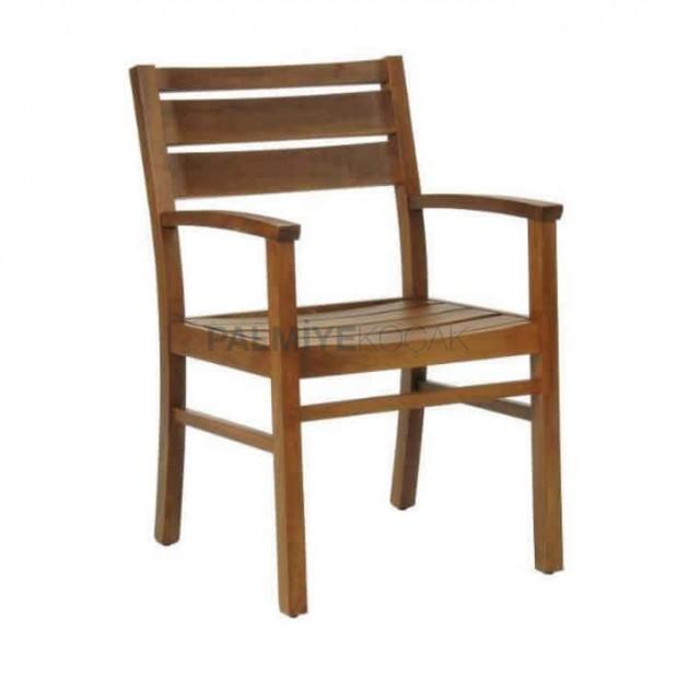 Teak Kollu Bahçe Sandalyesi