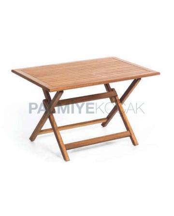 Rectangular Teak Table with Folding Leg