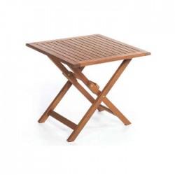 Square Teak Table with Folding Leg