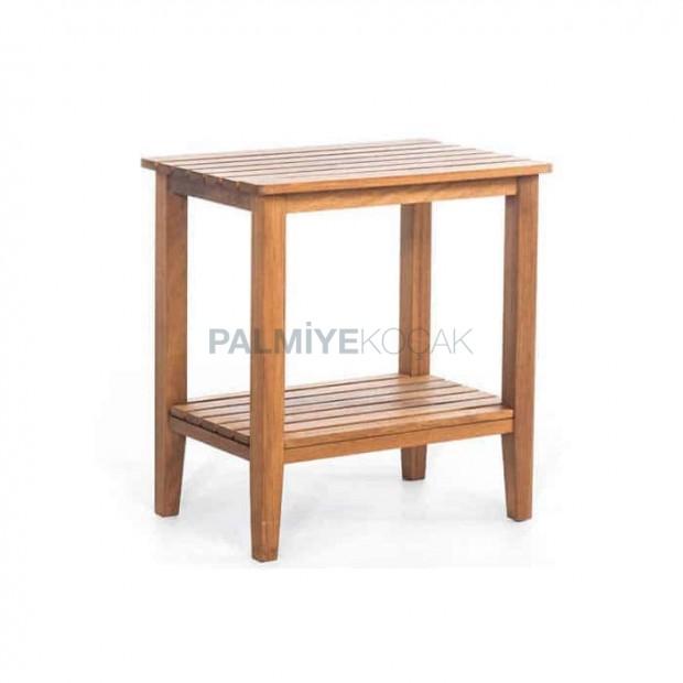 Shelf High Teak Table