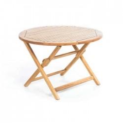 Round Folding Teak Table