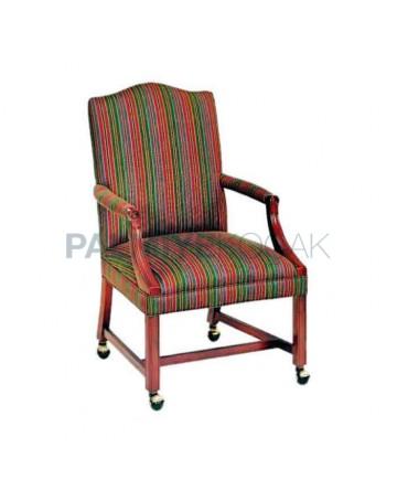 Wheeled Classic Armchair