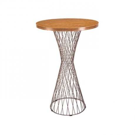Wood Round Table Top Wire Table