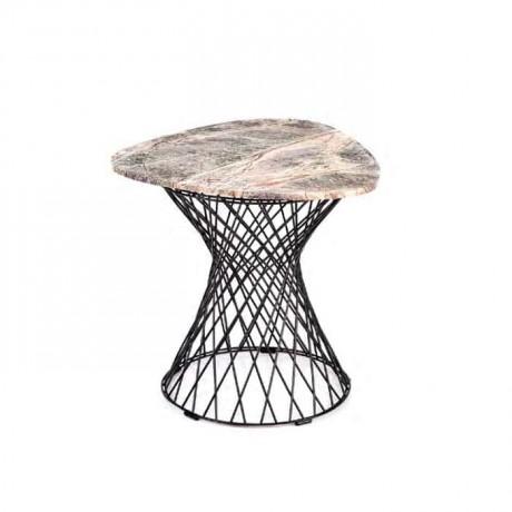 Telli Çubuk Metal Ayaklı Cafe Masası - tmt9191
