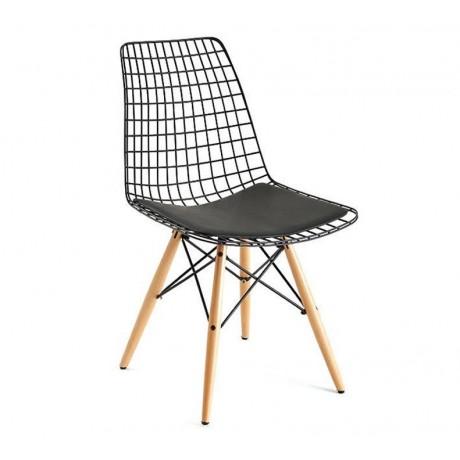 Ahşap Ayaklı Metal Sandalye Modeli - tms101