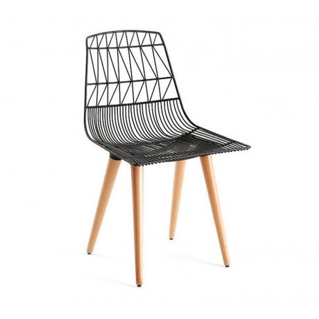 Retro Ahşap Ayaklı Tel Sandalye Satışı - tms104