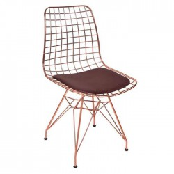 Copper Frame Wire Chair