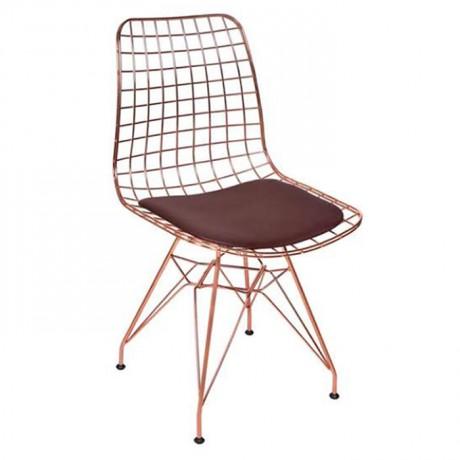 Bakır İskeletli Tel Sandalye - Telli Metal Sandalye