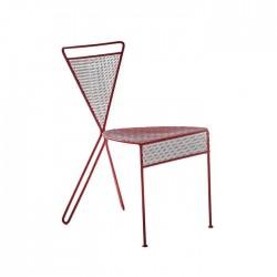 Cross Back Legs Modern Restaurant Wire Chair