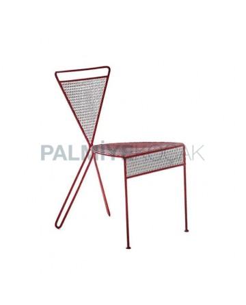 Çapraz Ayaklı Telli Modern Cafe Restoran Sandalyesi