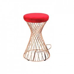 Leather Upholstered Wire Chair