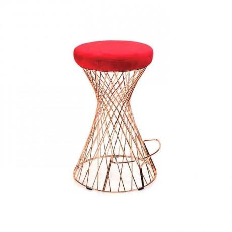 Telli Bar Sandalyesi Deri Döşemeli - tms7190