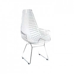 Metal Sticks Painted Wire Arm Chair