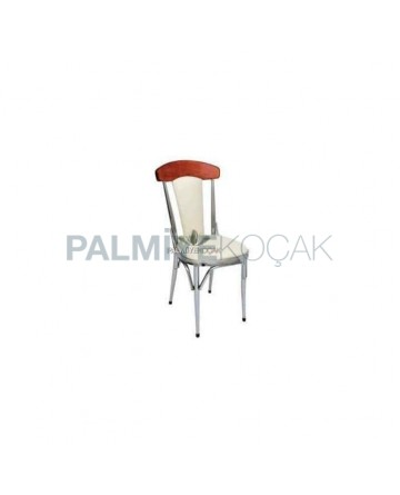 Wooden Chrome Coated Chair