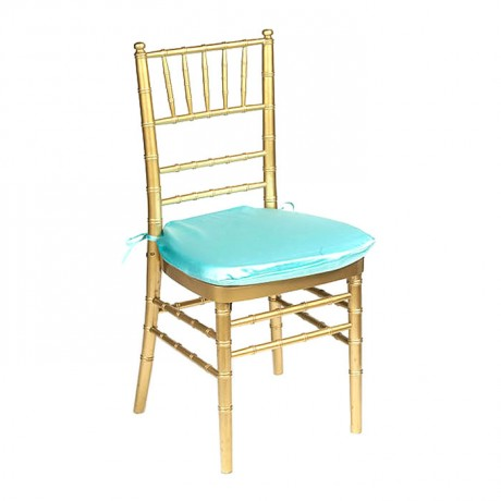 Wooden Gold Colored Tiffany Chair