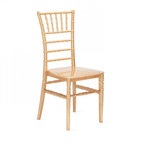 Gold Color Plastic Tiffany Chair - tfs4065