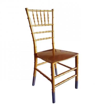 Economic Gold Colour Plastic Tiffany Chair