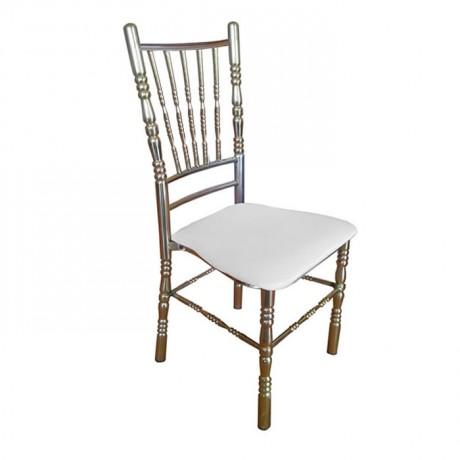 Metal Tiffany Sandalye Pirinç Kaplama Krom Kaplama Gold Elektrostatik Boya Gümüş Kaplama Gri Boyalı Düğün Salonu Organizasyon Sandalyesi - tfs7886