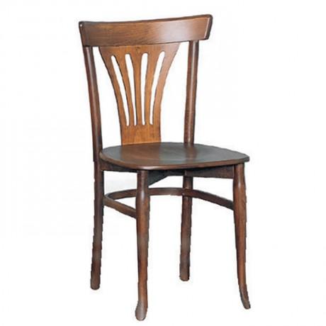 Açık Ceviz Boyalı Yelpaze Sırtlı Tonet Sandalye - ths9090
