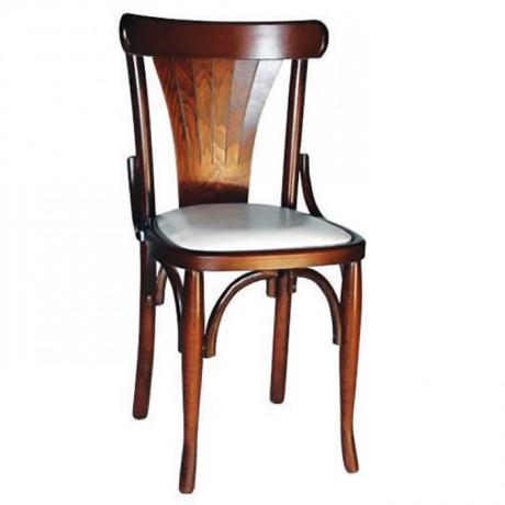 Açık Eskitme Ahşap Tonet Sandalye - ths9044