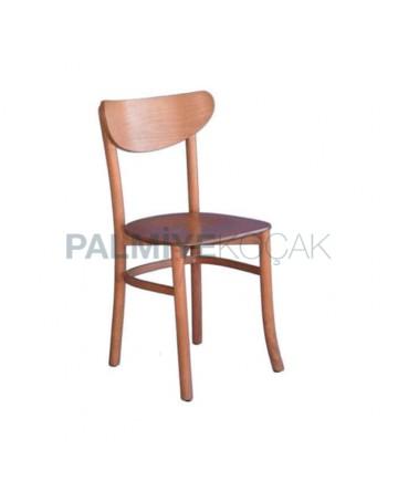 Açık Eskitme Ahşap Tonet Sandalye