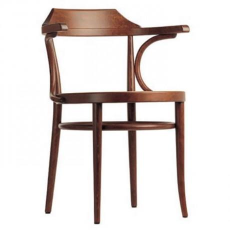 Ahşap Kollu Açık Ceviz Boyalı Tonet Sandalye - ths9522s