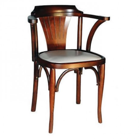 Wooden Tray Chair with Armrest - ths9060