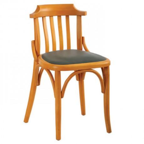 Ahşap Meşe Renkli Siyah Döşemeli Tonet Sandalye - ths9501s