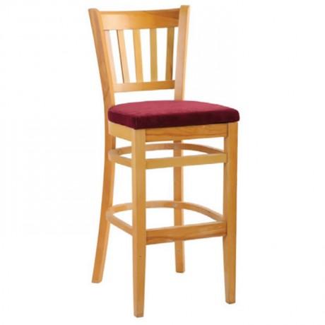 Ahşap Tonet Cilalı Bar Sandalyesi - abt0007