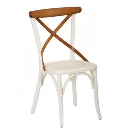 Beyaz Lake Ahşap Cafe Thonet Sandalyesi - ths9505s