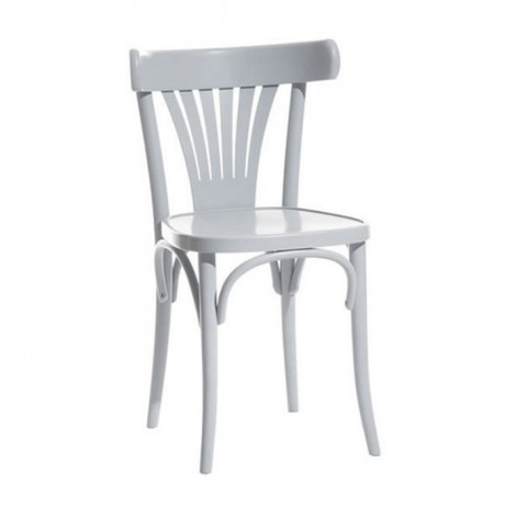 Beyaz Parlak Lake Mutfak Tonet Sandalyesi - ths9508s