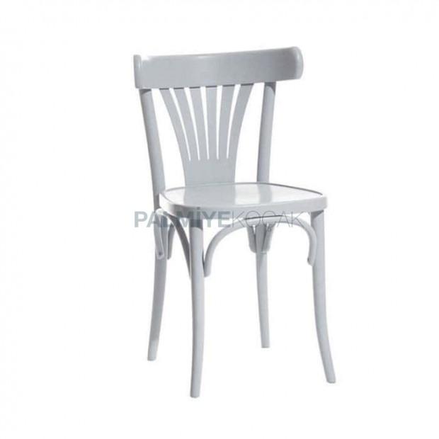 Beyaz Parlak Lake Mutfak Tonet Sandalyesi