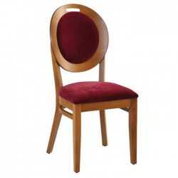 Bordo Fabric Upholstered Rounded Thonet Chair