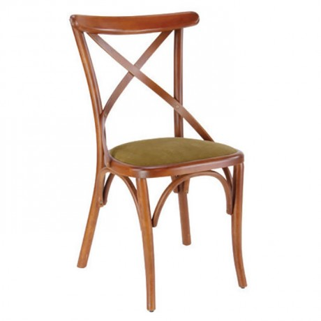 Çapraz Çıtalı Cilalı Ahşap Restoran Sandalyesi - ths9506s