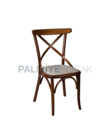 Çapraz Sırtlı Ahşap Tonet Sandalye