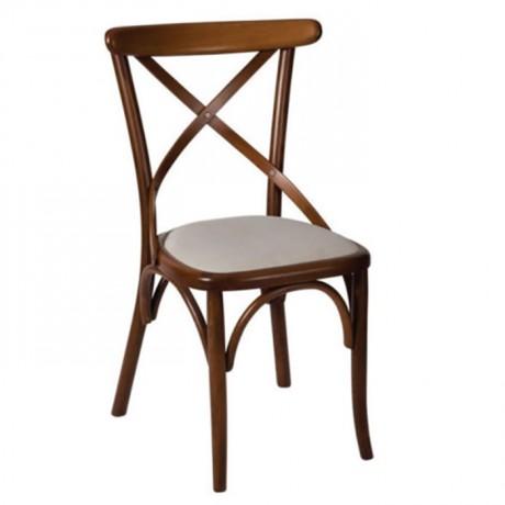 Çapraz Sırtlı Ahşap Tonet Sandalye - ths9502s